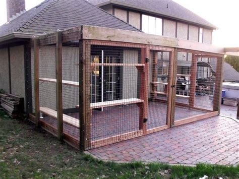 outdoor cat patio enclosures pin by creviston on cat enclosures for other animals
