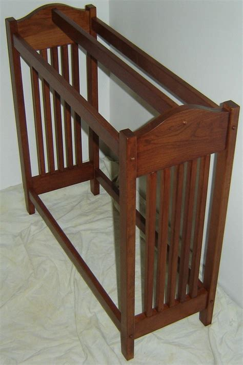 hand crafted  solid cherry wood mission style quilt rack