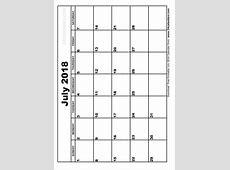 July 2018 Printable Calendar calendar 2017 printable