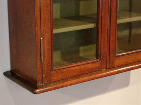 Small Antique Glazed Wall Cabinet