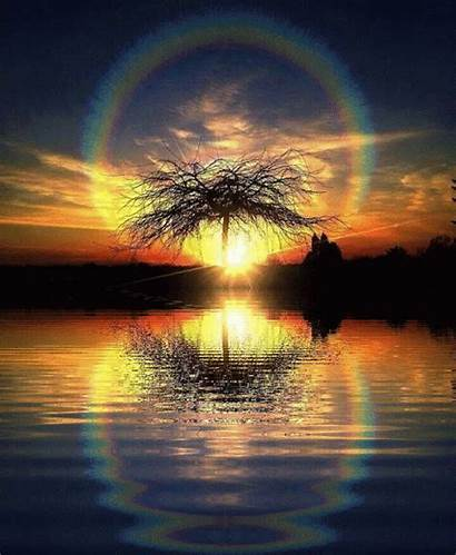 Sunset Nature Animated Water Scenery Gifs Earth