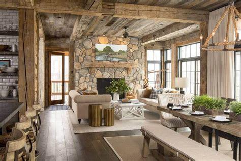 cuisine bois nature et d馗ouverte superbe maison de cagne à illinois au design intérieur rustique et chaleureux vivons maison