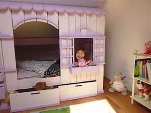 Lit Maison Fille : lit cabane mini house pour fille et gar on abramacabane ~ Teatrodelosmanantiales.com Idées de Décoration