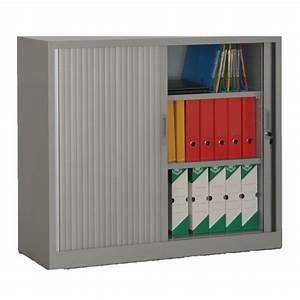 Armoire Rideaux Monobloc H105xL120xP46 Cm Bureau Dpt