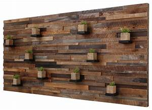 Reclaimed Barn Wood Wall Art With Floating Shelves, 7'x3'4