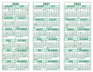 Free Ticket Templates Printable 2020 2021 2022 3 Year Calendar