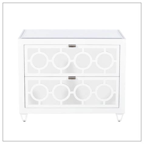 white mirrored nightstand worlds away barkley mirrored nightstand white