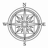 Compass Clip Template Tattoo Rose Drawing Coloring Simple Line Clipart Sheet Sketch Points Dad Templates Marine North sketch template