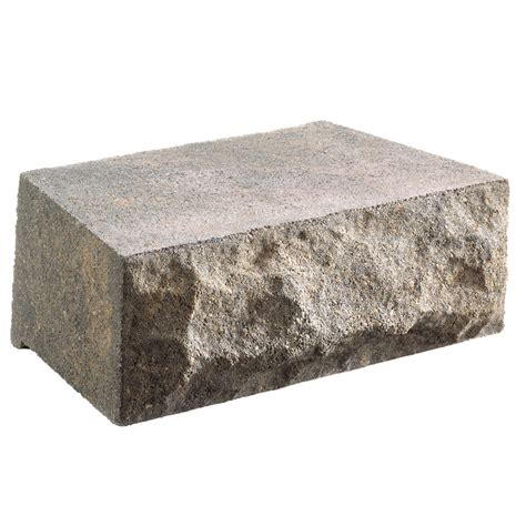 shop chiselwall charcoal retaining wall block common