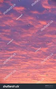 Pink And Purple Clouds At Sunset Background Stock Photo ...
