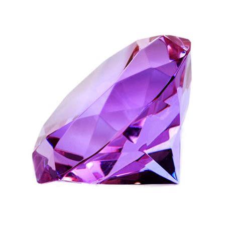 mm purple crystal glass diamond stone paperweight modern