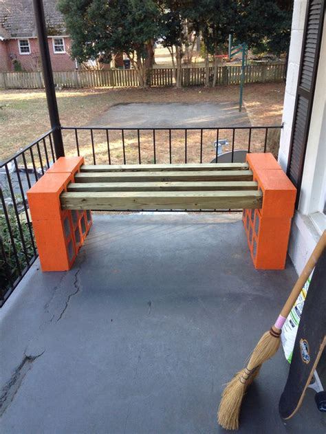 1000+ Images About Cinder Block Bench On Pinterest