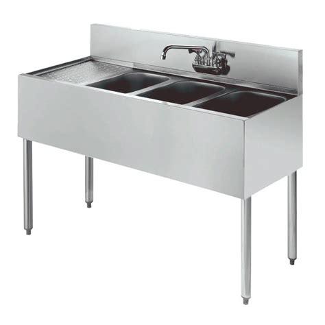 48 3 compartment sink krowne kr21 43r 48 quot 3 compartment sink w 10 quot w x 14 quot l bowl