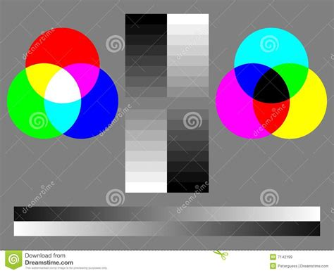 Color Test Chart Royalty Free Stock Images