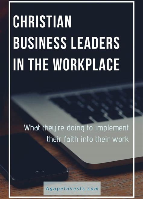 christian business leaders   workplace agape investing