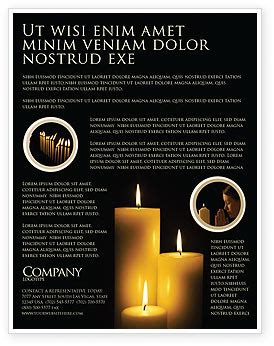 candles flyer template background  microsoft word