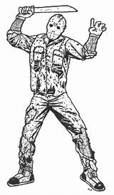 Jason Voorhees Coloring Pages Colouring Mask Freddy Horror Printable Friday 13th Sheet Deviantart Template Rant Forums Scary Wardog Zero Favourites sketch template