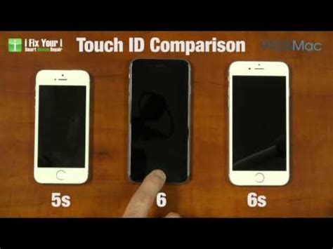 compare iphone 6 and 6s touch id on iphone 5s iphone 6 and iphone 6s compared in