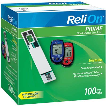 relion prime blood glucose test strips  count