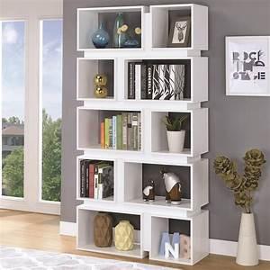 Cheryl, White, Wood, Finish, Bookcase
