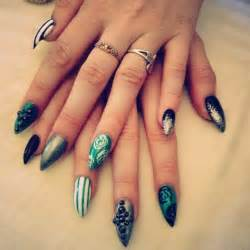 Claw nails cute designs acrylic nail stilletos
