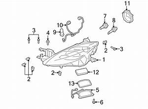 Mazda 6 Headlight Wiring Harness  Xenon  2009