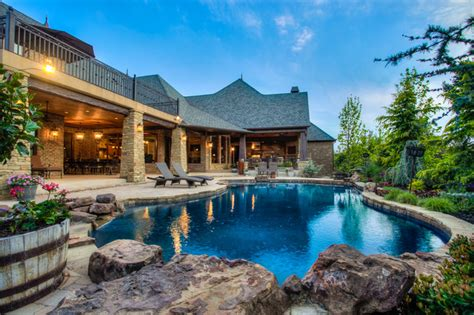 sensational rustic swimming pool designs