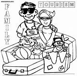 Tourist Coloring Pages sketch template