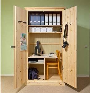 Wir Bauen Dein Schrank : arbeitsplatz kleines b ro im schrank kleine zimmer ~ A.2002-acura-tl-radio.info Haus und Dekorationen