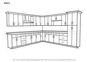 learn how to draw kitchen cabinets furniture step by step drawing tutorials