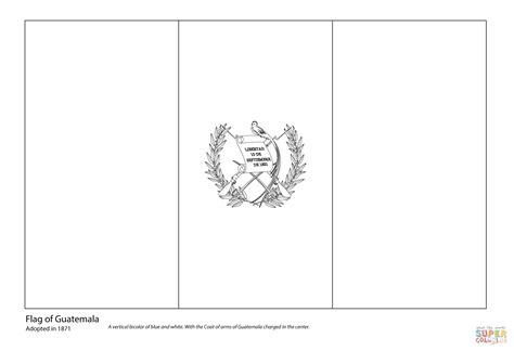 Dibujo De Bandera De Guatemala Para Colorear Dibujos
