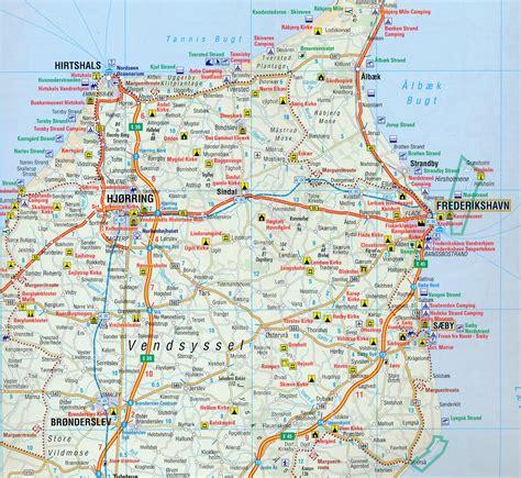 wegenkaart landkaart  denemarken anwb media  reisboekwinkel de zwerver