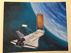 NASA Concept Art Original Shuttle Space Americana Space