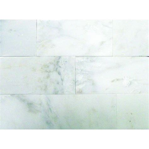 polished white marble floor tiles ms international greecian white 3 in x 6 in polished marble floor and wall tile 1 sq ft