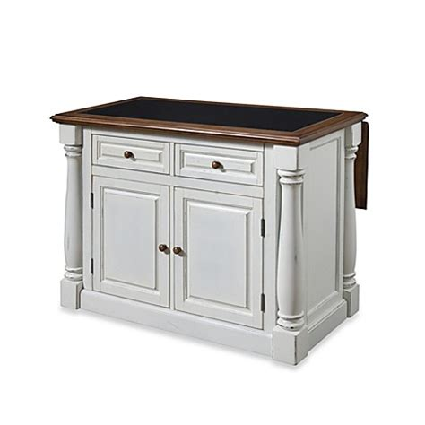 distressed white kitchen island home styles monarch kitchen island with distressed oak top 6794