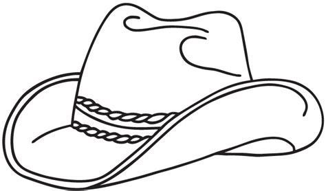cowboy hat coloring pages  bestofcoloringcom