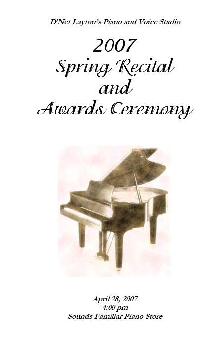 piano recital program recital program templates layton and resources