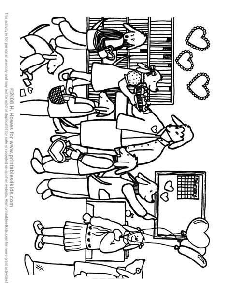 Classroom Coloring Pages A Classroom Colouring Pages