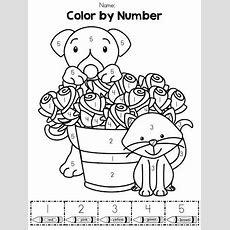 Valentine's Day Kindergarten Math Worksheets  Kindergarten Math, Color By Numbers And Math