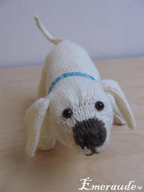 modele tricot doudou chien