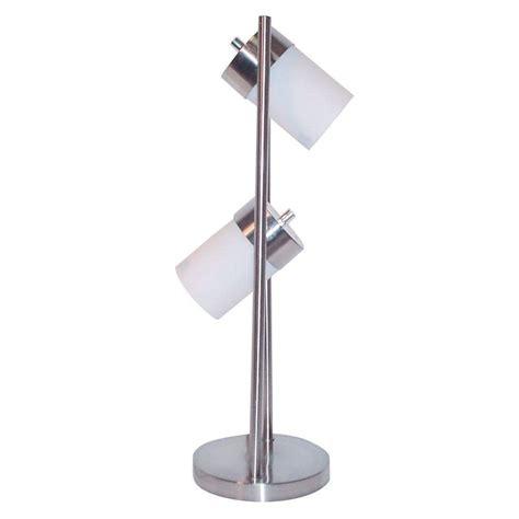 ore international 25 in 2 light white adjustable table