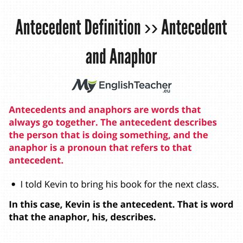 antecedent definition myenglishteachereu