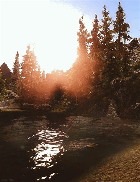 remarkable animated nature lake scenery gifs  animations