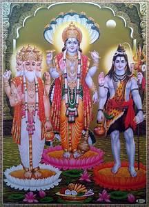 Hindu Tridev * Brahma, Vishnu, Shiva - POSTER (Big Size 20 ...