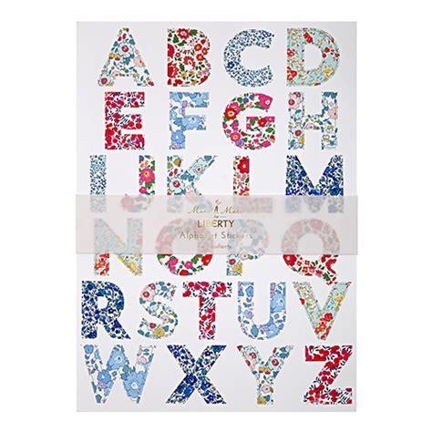 Adesivi Lettere by Stickers Alfabeto Liberty