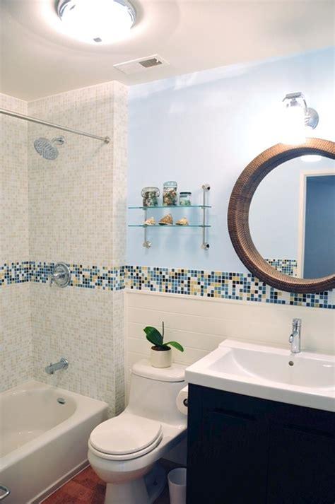 bathroom with mosaic tiles ideas modern bath design in kaleidoscope colorways winter blend