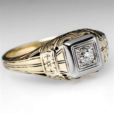 men s wedding bands home mens wedding band ring w old european diamond 14k