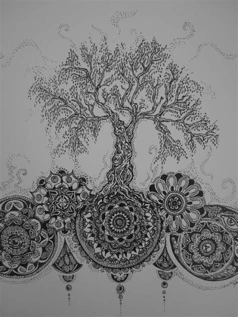 mandala tree tattoo pinterest mandala tattoo