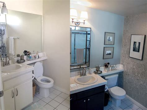 before after our apartment bathroom makeover this