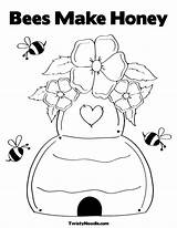 Coloring Bee Honey Bees Template Realistic Yep Popular sketch template
